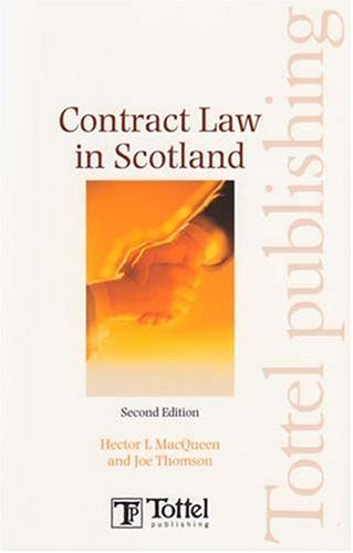 Contract Law in Scotland: Second Edition