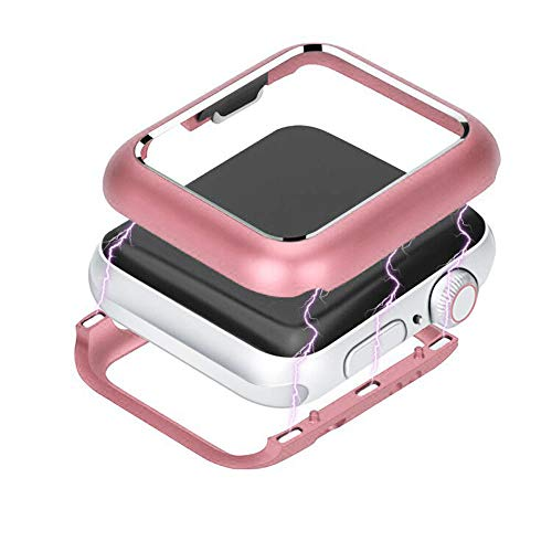 Schutzhülle für Apple Watch Serie 4 44mm / 40mm, Jamicy® Magnetic Frame Uhrengehäuse Schutzhülle (44mm, Rosa)