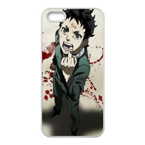 Deadman Wonderland coque iPhone 5 5S Housse Blanc téléphone portable couverture de cas coque EBDXJKNBO12927