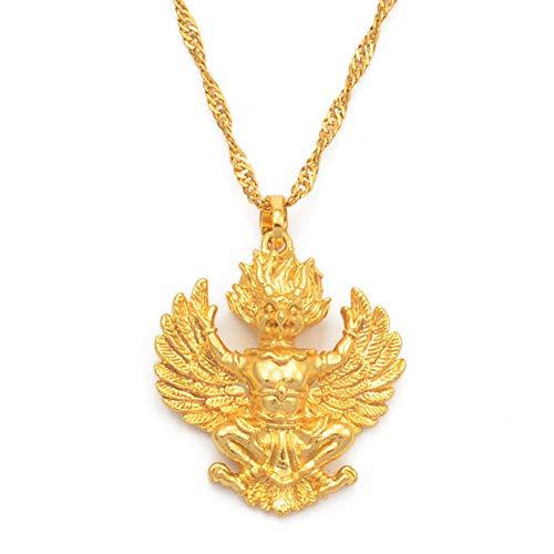 Gold Farbe Thai Buddhistischeanhänger Halsketten Für Frauen Mädchen Garuda Emblem Von Thailand Schmuck Die Phra Khrut Pha (Thailand Kostüm Frauen)