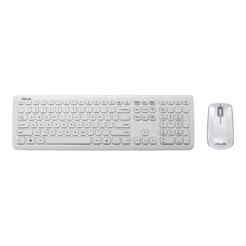 Asus W3000 Set Tastatur und Optische Maus (wireless, Deutsches Layout, QWERTZ Tastatur, 3 Tasten Maus) weiß -