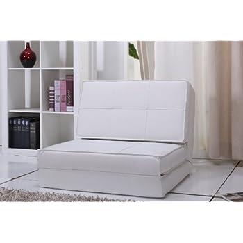 fauteuil chauffeuse convertible en lit d'appoint (petit, blanc)