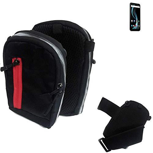 K-S-Trade Outdoor Gürteltasche Umhängetasche für Allview X4 Soul Infinity Plus schwarz Handytasche Case travelbag Schutzhülle Handyhülle