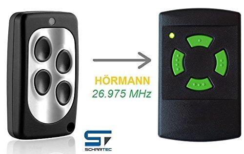 Handsender für Hörmann 26,975 MHz HSM 4 - HS 4 Garagentoröffner - Funk Sender - Fernbedienung 27