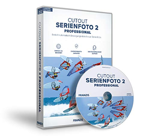 FRANZIS Serienfoto 2 professional|2 professional|Für bis zu 3 Geräte|zeitlich unbegrenzt|Bildbearbeitungsprogramm für Windows PC und Mac OS X|Disc|Disc