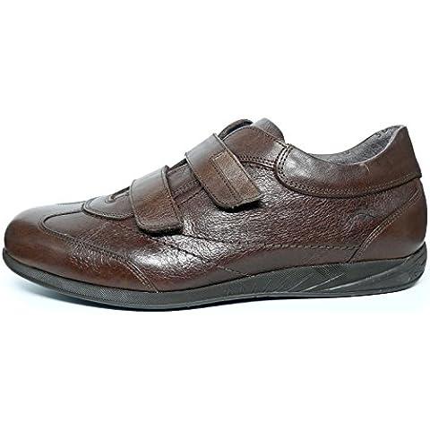 Zapatos hombre FLUCHOS - Cierre velcro en piel - Disponible en colores Negro y Marrón - 8486 - 75 y