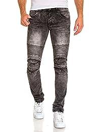 BLZ jeans - Jean fashion gris délavé nervuré slim