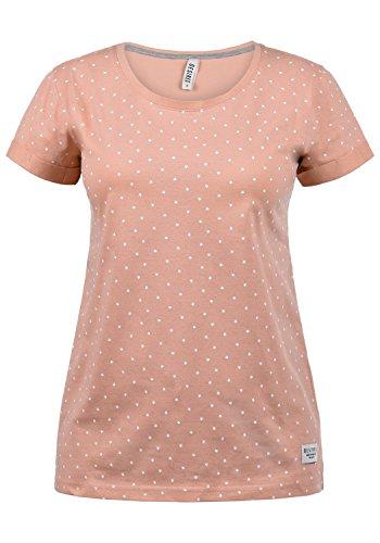 Rose Damen Henley (DESIRES Starlet Damen T-Shirt Kurzarm Shirt Mit Print Und Rundhalsausschnitt Aus 100% Baumwolle, Größe:S, Farbe:Rose Dawn (4916))