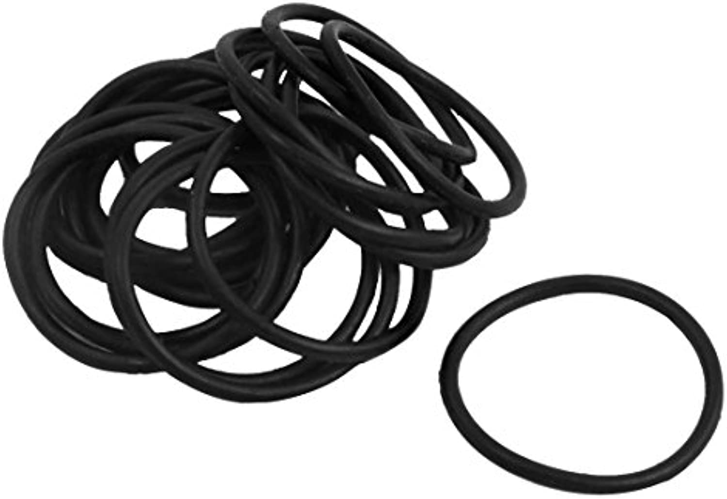 20pcs Métricas 27.2mm OD 1.8mm grueso Industrial Rubber O Ring Sello Negro