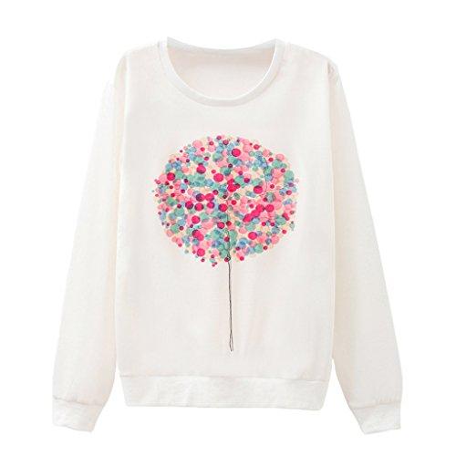 Damen Regenbogen Blume Ball Sweatshirt Kreativ Gestaltung Langarm Pullover (Butterfly Sweatshirt Hoodie)