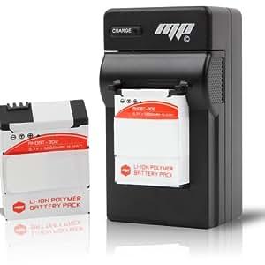 2 x Batteries MP EXTRA® pour gopro 3+ puissance 1200mAh inclus chargeur secteur Europe,US, UK pour gopro 3+ inclus adaptateur allume cigare + 2 boites protections pour les batteries batterie rechargeable optimisée pour gopro HD Hero 3+