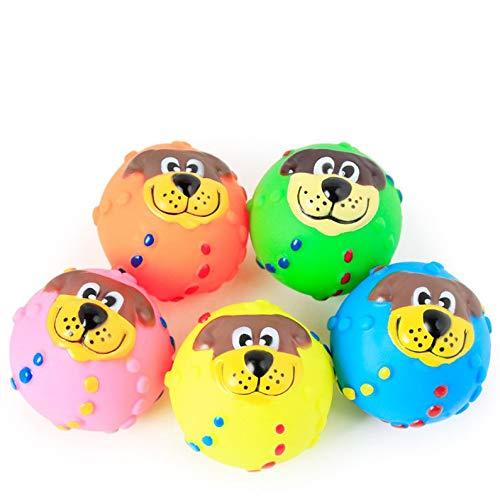 ukYukiko Quietschspielzeug für Welpen, Ball, Kauspielzeug