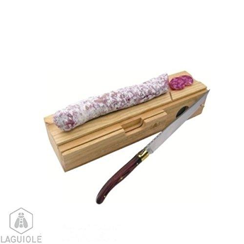LAGUIOLE - Salami-Schneideblock mit Messer
