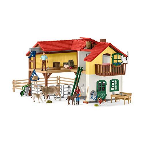 Schleich 42407 Bauernhaus mit Stall und Tieren, Bunt, Large