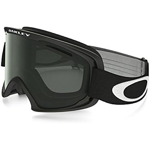 O2 XM Oakley-Máscara de esquí y snowboard, color negro mate, color gris