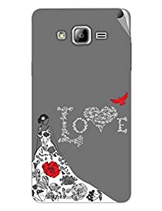 Miicreations Mobile Skin Sticker For Samsung Galaxy On7,Love