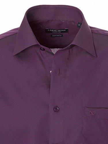 CASAMODA Herren Businesshemd 006060 Regular Fit bügelfrei Dunkellila