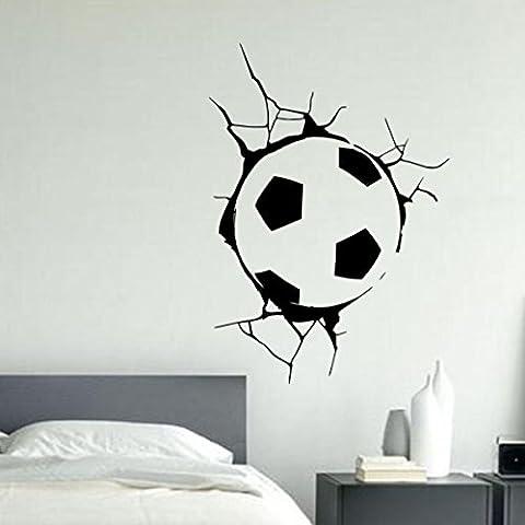 Balón de fútbol para adultos en pared - decorativo adhesivo Boy's hall FREE P en forma de cubo para sala de estar y p