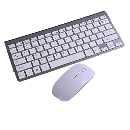 ularma Ultra Slim Mini Tastatur Kostüm 2. 4G kabellos Tastatur weiß