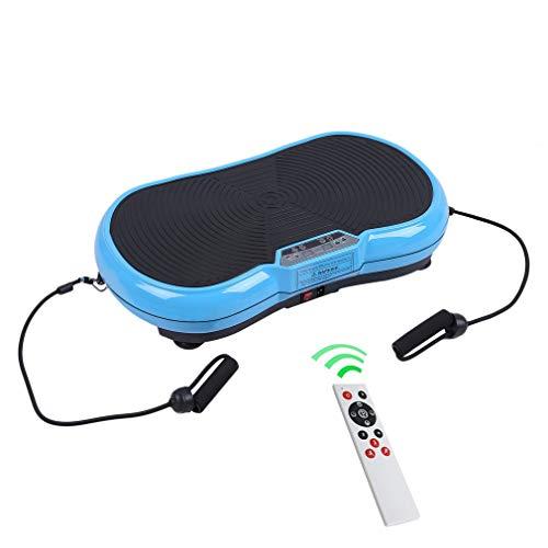 Homgrace Vibrationsplatte Vibrationsgerät Abnehmen Trainingsgerät Zuhause Fitness Shaper mit LCD Display, Fernbedienung und Trainingsbänder (Blau)