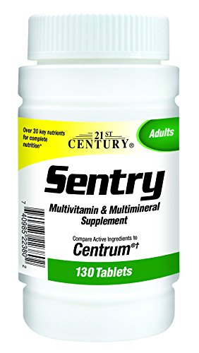 21st Century Health Care, Sentry, Multivitamin & Multimineral Supplement, 130 Tablets