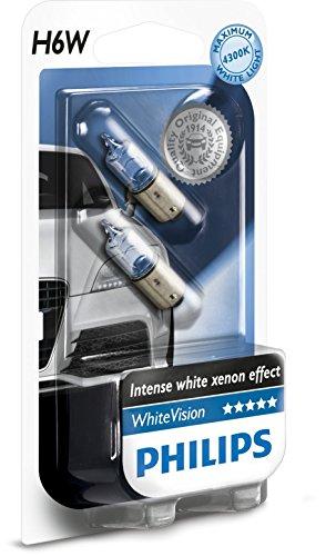 Preisvergleich Produktbild Philips WhiteVision Xenon-Effekt H6W Autolampe 12036WHVB2, Doppelblister