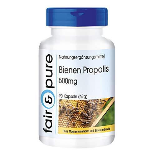 Propoli d'ape 500mg con flavonoidi e proantocianidine - Sostanza pura - 90 capsule