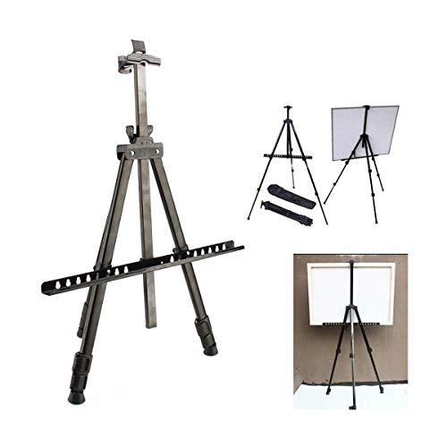 Ultra-portable Art Stand Staffelei, verstellbare Art Stativ Staffelei Malerei Stand Studio Display Whiteboard Ständer mit Tragetasche, max. Höhe 153cm, schwarz -624 (Whiteboard-tragetasche)