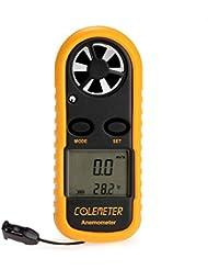 ColeMeter Digitale Wetterstation mit Windmesser und Thermometer