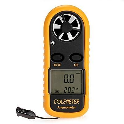 COLEMETER LCD Digital Windmesser Anemometer Windmessgerät Windgeschwindigkeit Test Temperatur Messgerät Temperaturerfassung