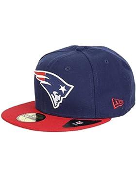 Gorra New Era – 59Fifty Nfl New England Patriots Team Rubber Logo azul/rojo