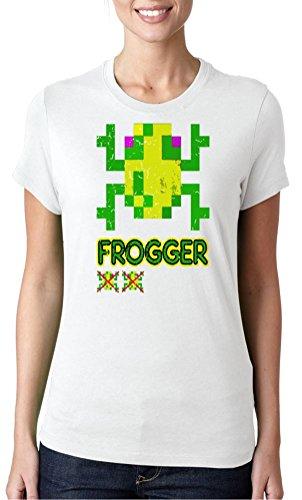 Frogger Ladies T-shirt, Black or White - Sizes 8 to 16
