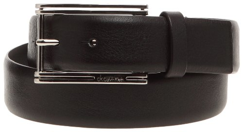 Calvin Klein K72293, Ceinture homme - Noir, Cuir