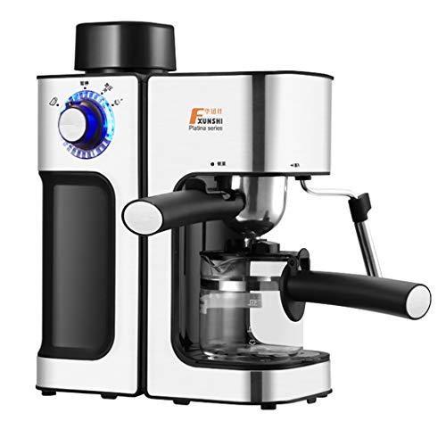 DPPAN kaffeemaschine 2 Tassen, Kaffeevollautomat mit Milchaufschäumer und Karaffe,Silver