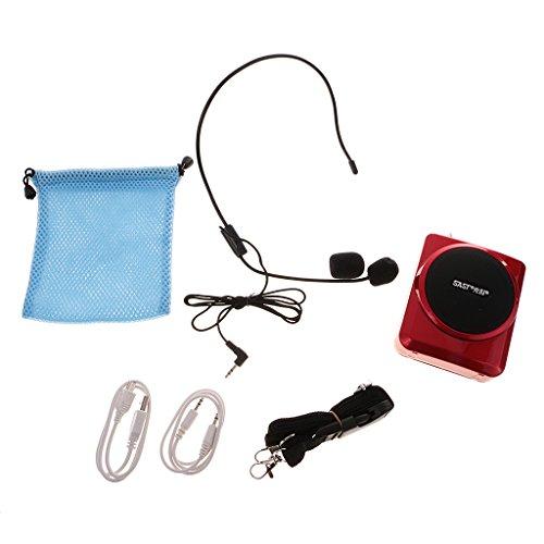 animateurs // Noir portable ampli pour micro,haut parleur avec micro casque fiio amplificateur de voix conf/érenciers et Batteries Rechargeables pour les guides les enseignants