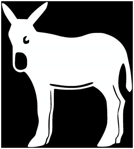 Samunshi® Katalanischer Esel Aufkleber Eselaufkleber in 7 Größen und 25 Farben (7,2x8cm weiß)
