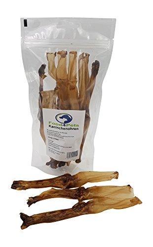 Food4Pets Kaninchenohren Hundeleckerli, 8 Stück - im wiederverschliessbaren Beutel