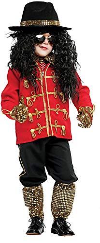 Costume di carnevale da michael j baby vestito per bambino ragazzo 1-6 anni travestimento veneziano halloween cosplay festa party 53141 taglia 4
