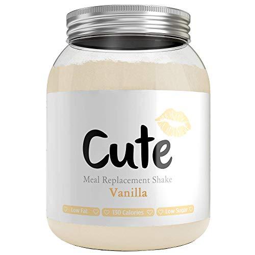 Cute Nutrition Shake Alla Vaniglia Sostitutivi del Pasto per la Perdita e Controllo di Peso Bevanda Dietetica Dimagranti per Donne 500g