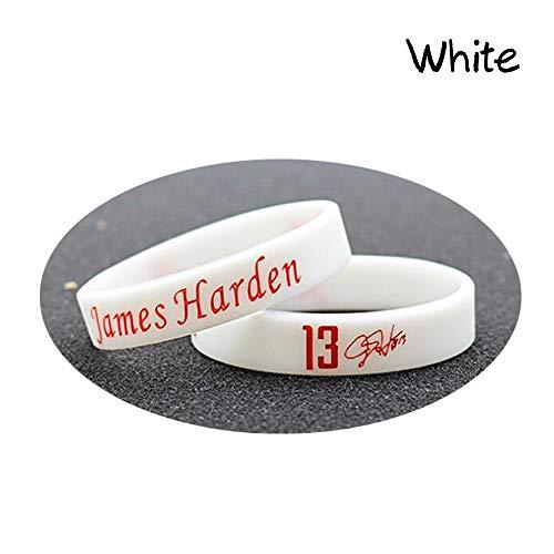 90555595e5d2 Lorh s store Polsino sportivo da polso con bracciale in silicone James  Harden Signature NBA (bianco
