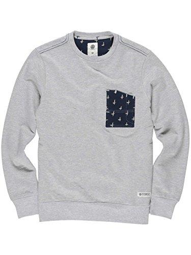 Herren Sweater Element Coleson Crew Sweater Grey Heather