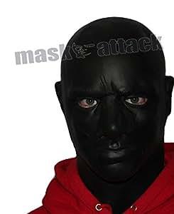 Réaliste le froid Noir Man Men tête pleine masque de latex de caoutchouc naturel pour Robe Croix Fantaisie Disguise (Halloween Party Vieux Prank costume effrayant pour Homme Homme ou Femme Lady)