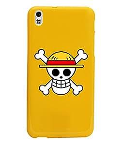 KolorEdge Back Cover For HTC Desire 816 - Yellow (1030-Ke15093HTC816Yellow3D)