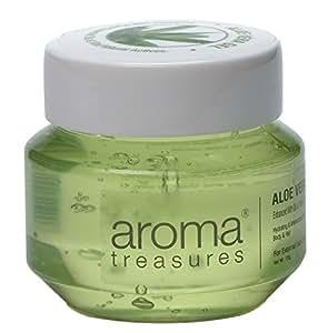 Aroma Treasures Aloe Vera Gel for Hair, Skin, Body and Beard, 125g