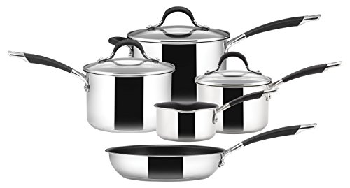 Circulon Momentum Saucepan and Frypan, Stainless Steel, Set of 5