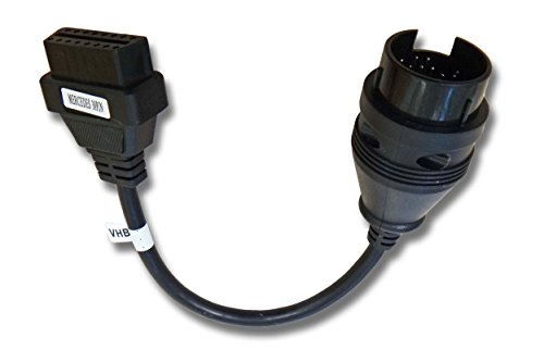 vhbw OBD1 38Pin Mercedes Benz auf 16Pin OBD2 Adapter passend für alle Mercedes Benz Modelle bis ca. BJ 2000, W124 W140 S202 W202 W203 W204