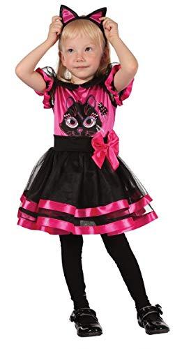 Fancy Me Mädchen Kleinkind rosa schwarz Kätzchen Halloween Tier Kostüm Kleid Outfit 2-3 J - Rosa, 2-3 Years