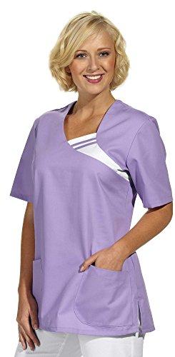 clinicfashion 12612015 Schlupfhemd flieder für Damen, Mischgewebe, Größe L
