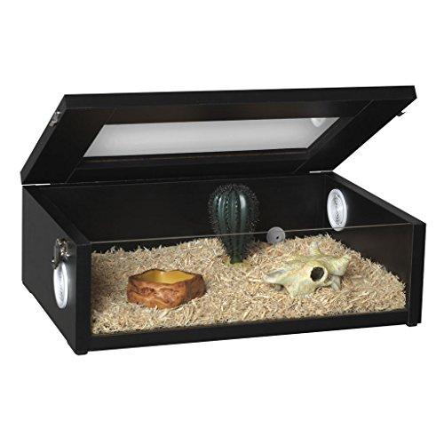 Monkfield Terranium Small Reptile Vivarium - 18 Inch Black For Leopard Gecko/Corn...