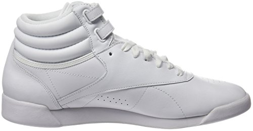 Reebok Freestyle Hi, Sneakers Hautes Mixte adulte Blanc (White/Silver)
